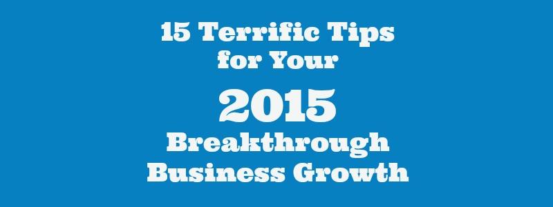 15 Terrific Tips