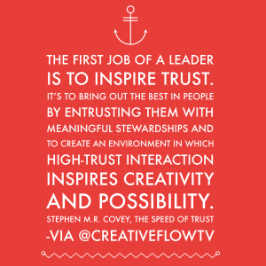Inspire Trust - Stephen MR Covey quote