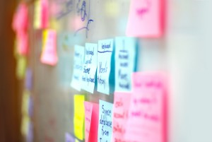 Post it notes wall