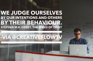Stephen MR Covey Quote - we judge ourselves