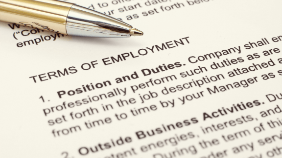 Terms of Employment Image