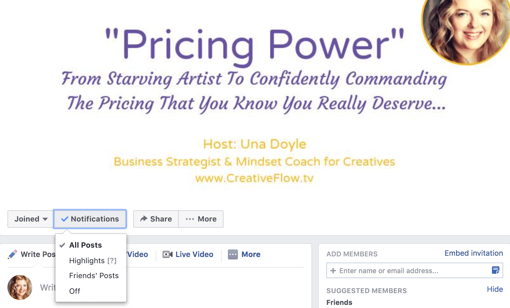 Pricing Power Facebook Group Image